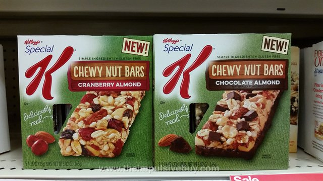 Special K Chewy Nut Bars (Cranberry Almond and Chocolate Almond)