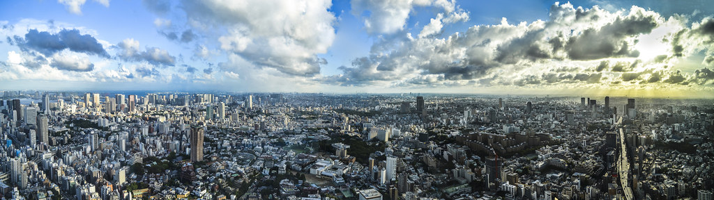 Tokyo City Panorama - Odaiba to Shibuya