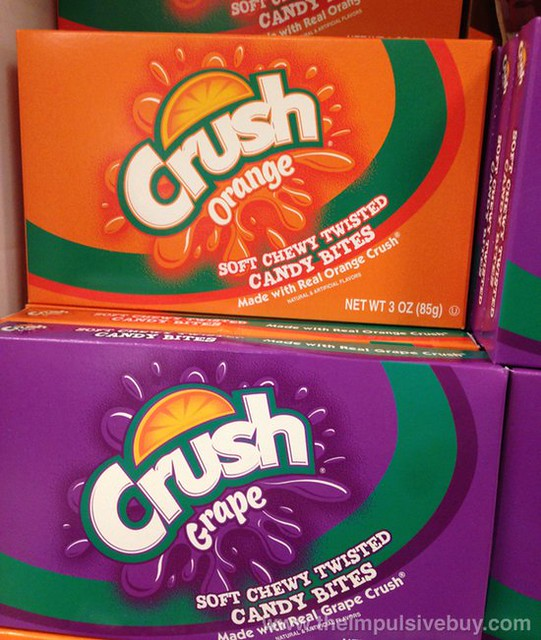 Crush Orange and Grape Candy Bites