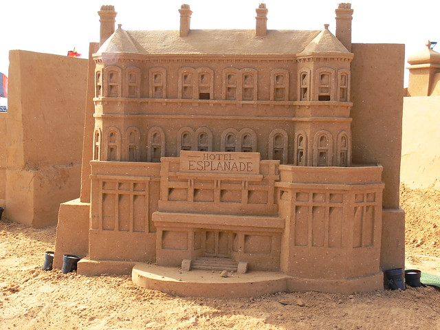 Sand Sculpture of the Hotel Esplanade