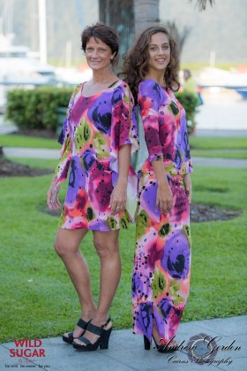 Lily Dress   Colour Bomb & Lady Bird Top with Three Quarter Sleeves + Long Straight Skirt