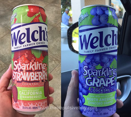 Welch's Sparkling Strawberry and Sparkling Grape Cocktail
