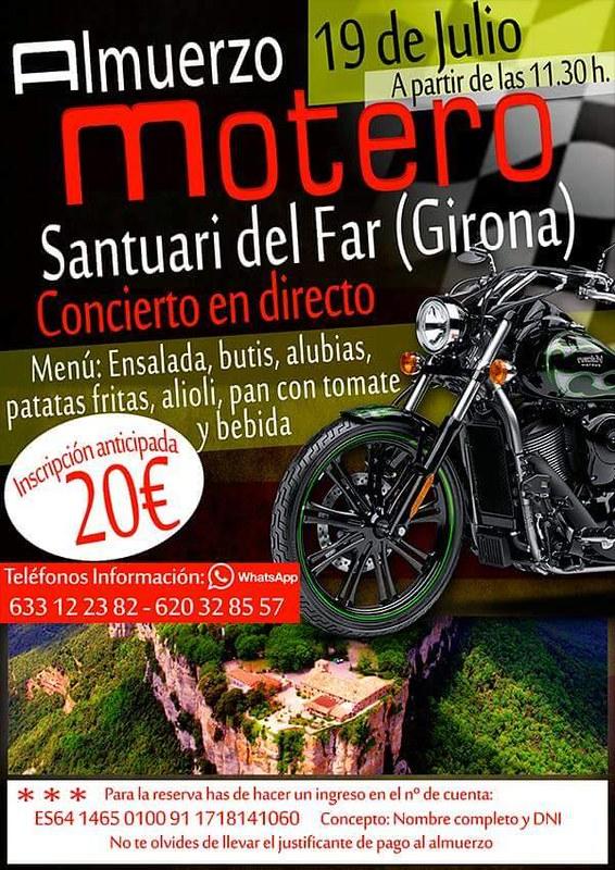 Almuerzo Motero - Santuari del Far (Girona)