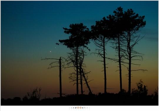 Het laatste licht van de avondschemering