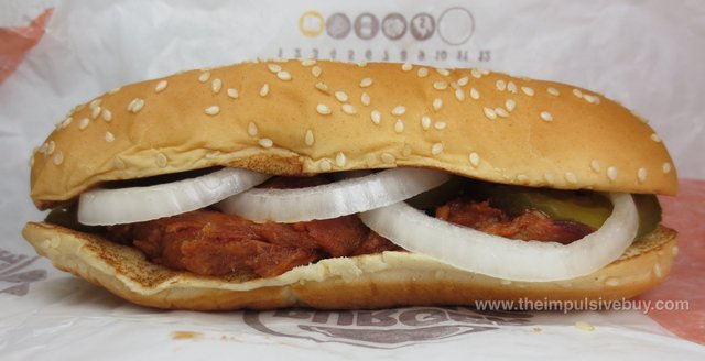 Burger King Extra Long Pulled Pork Sandwich