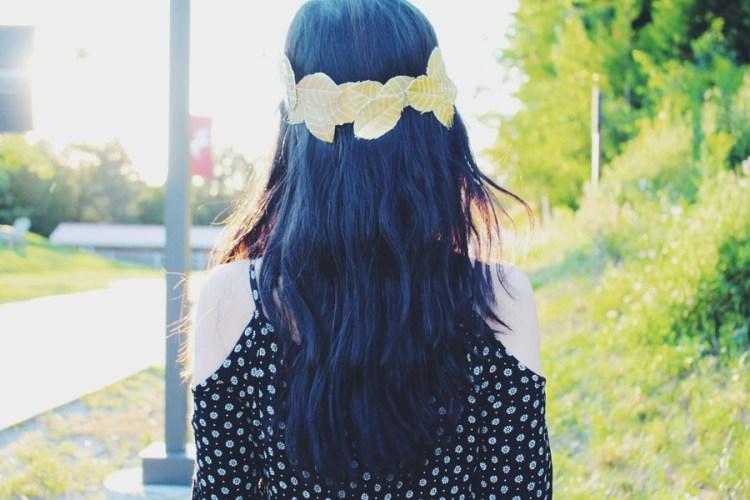 DIY Golden Leaf Crown- LoveSpunk
