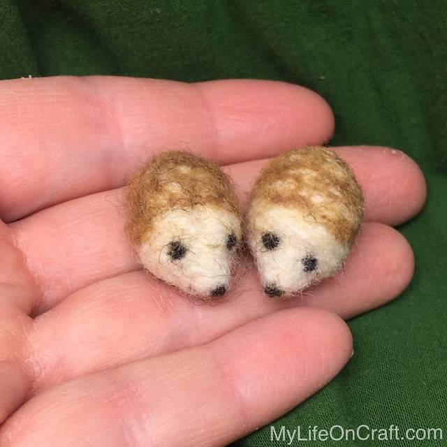 Wee Felted Hedgehog Ornaments