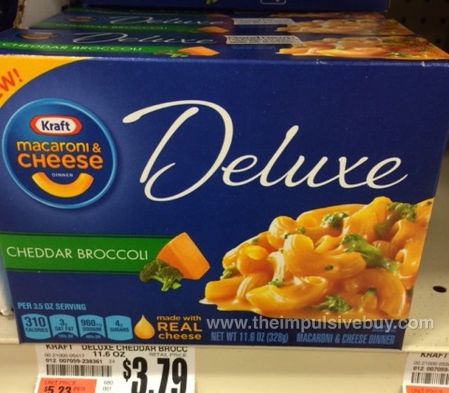 Kraft Macaroni & Cheese Deluxe Cheddar Broccoli