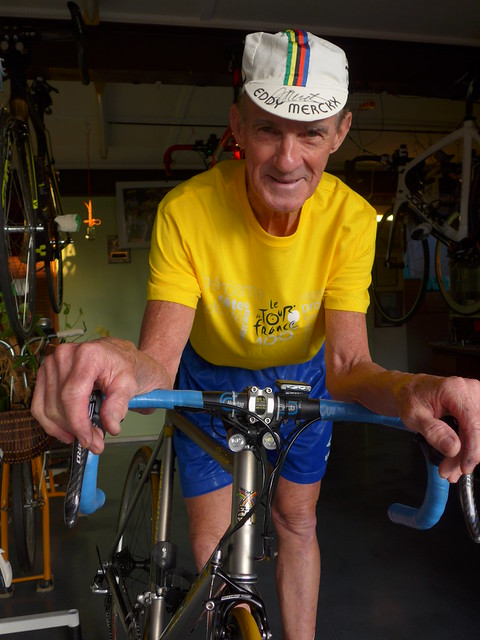 Bryan 'Eddy' Ferris ... more than 50 years as a club cyclist.