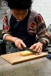 Tamagoyaki getting sliced, Yurippi, Crows Nest: Sydney Food Blog Review