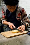 Tamagoyaki getting sliced, Yurippi, Crows Nest: Sydney Food Blog Review