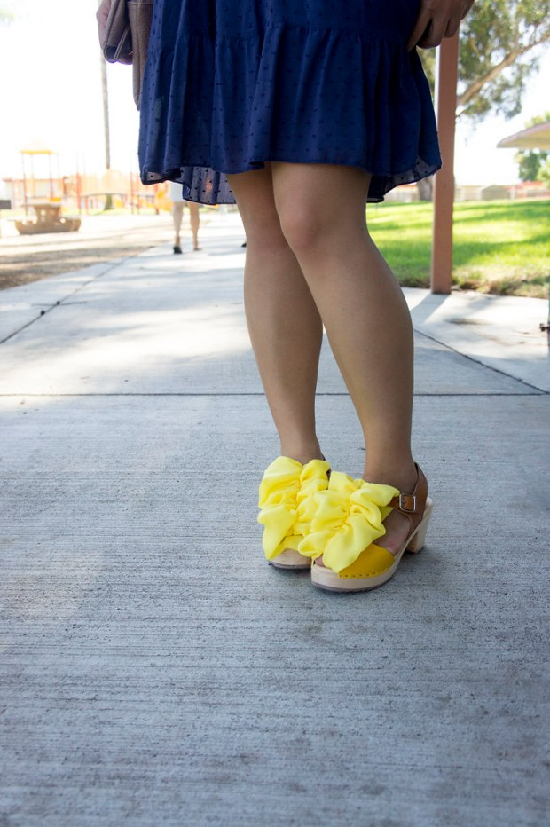 Ruffled Yellow Shoes