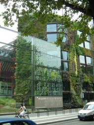 green wall musee branly