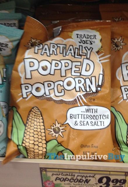Trader Joe's Partially Popped Popcorn with Butterscotch & Sea Salt