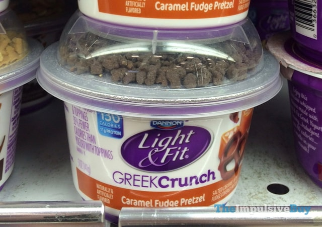 Dannon Light & Fit Caramel Fudge Pretzel GreekCrunch