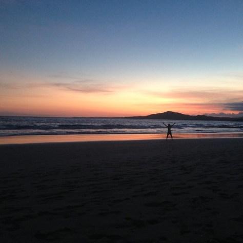 sunset on Galapagos Islands