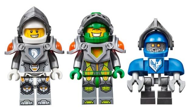 LEGO Nexo Knights Lance, Aaron, and Claybot