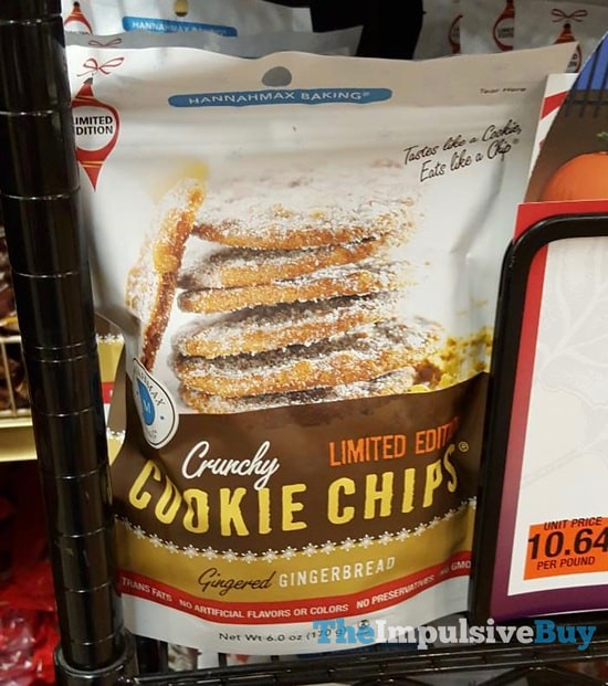 Hannahmax Limited Edition Gingered Gingerbread Cookie Chips
