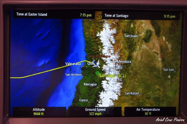 Mapa de vuelo LAN842