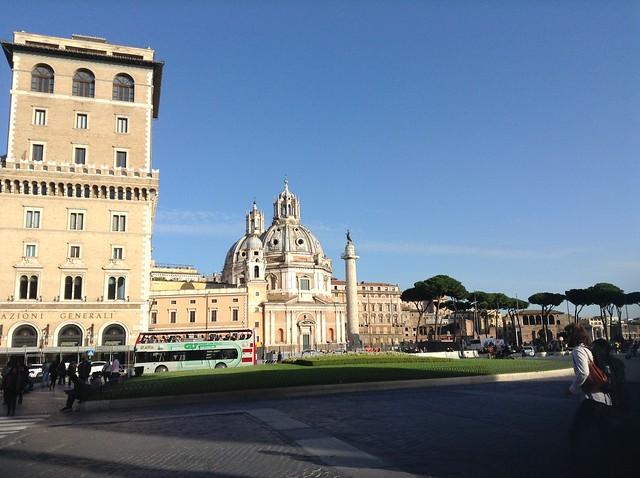 Palazzo Valentini is just behind Piazza Venezia, in the photo