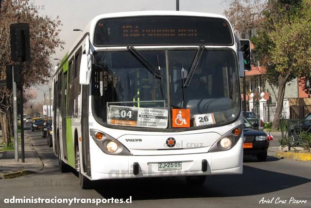 Transantiago - Inversiones Alsacia - Marcopolo Gran Viale / Volvo (ZJ2505)