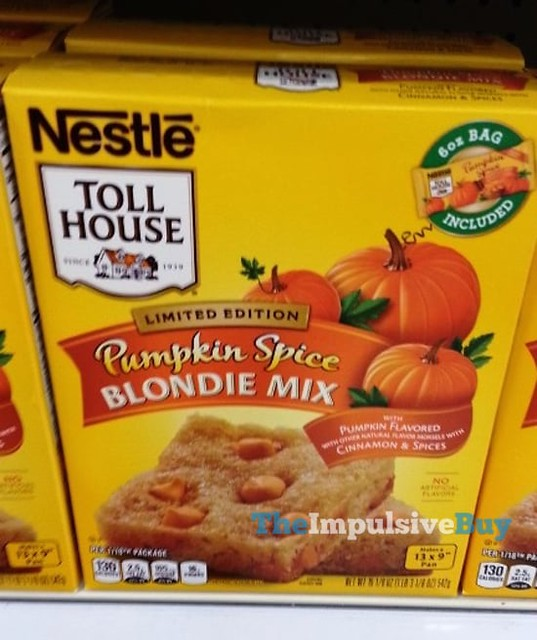 Nestle Toll House Limited Edition Pumpkin Spice Blondie Mix