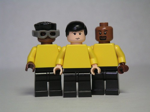 Geordi La Forge, Data, and Worf