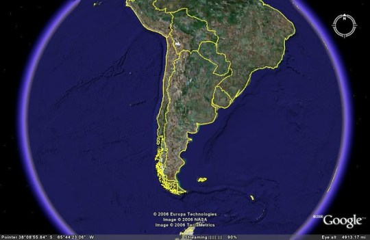 Argentina vista desde Google Earth
