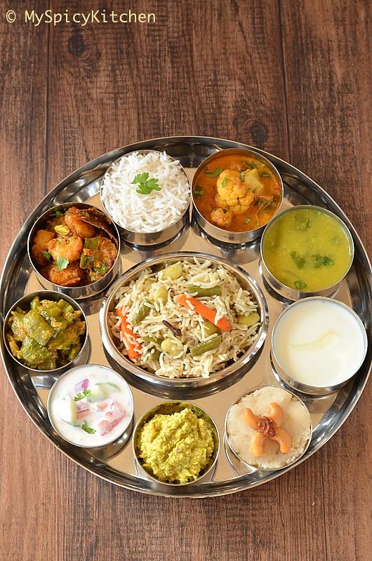 Simple Telugu Bhojanam ~ Telugu Thali from Telangana ...