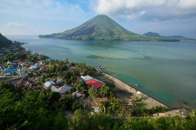 Gunung Api from the fort on Banda Besar, Banda Islands.