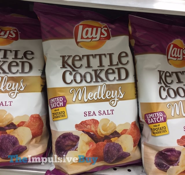 Lay's Limited Batch Kettle Cooked Sea Salt Medleys Potato Chips