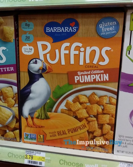 Barbara's Limited Edition Pumpkin Puffins Cereal