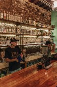 Sabina Sabe   A exceptional bar set up with many of our favourite Mezcal's on display.