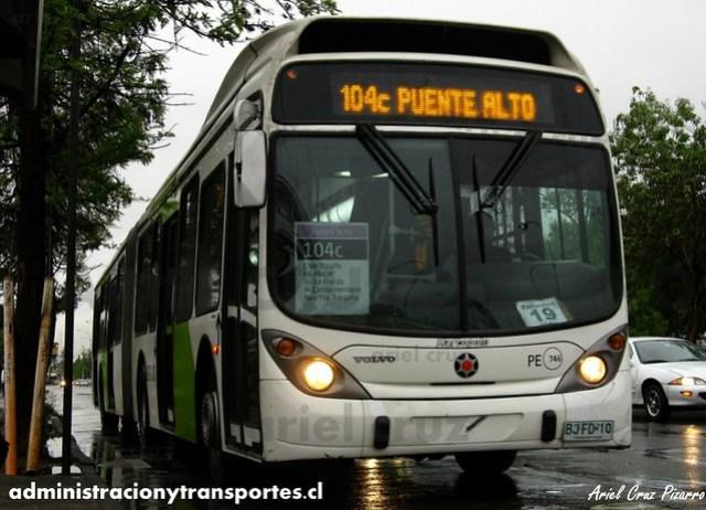 Transantiago - Inversiones Alsacia - Marcopolo Gran Viale / Volvo (BJFD10)