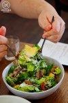 Sydney Food Blog Review of Le Grande Bouffe, Rozelle: Roasted duck, lardon, cos lettuce, shaved parmesan, anchovy vinaigrette, sliced avocado, $18