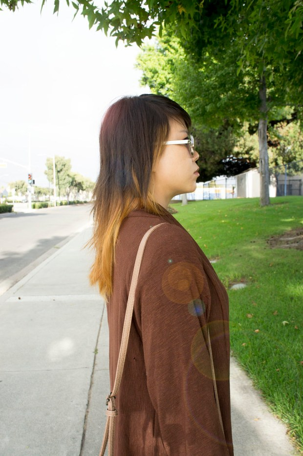 DIY Brown Cardigan