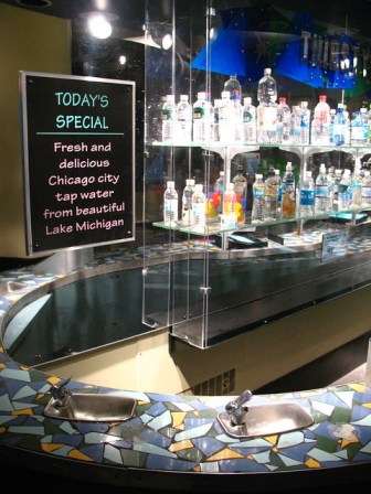 Bottled Water Bar in Chicag