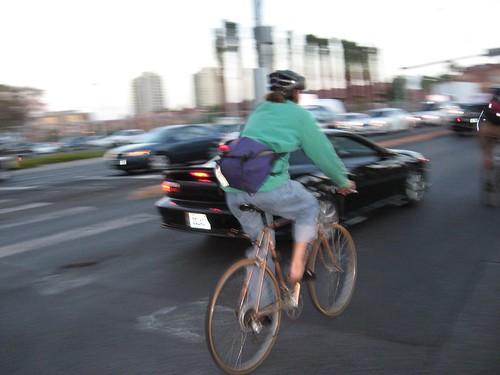 Cyclists taking the lane in Vegas