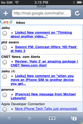 New gmail mobile