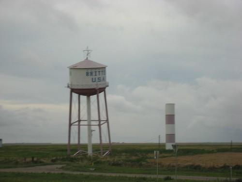 Tilted Water tower at Britten, Texas