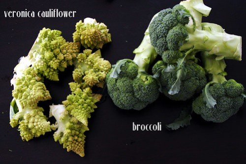 romanesco cauliflower and broccoli