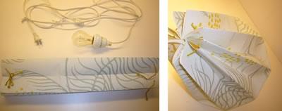 Bluelines: It's Electric DIY Wallpaper Lanterns