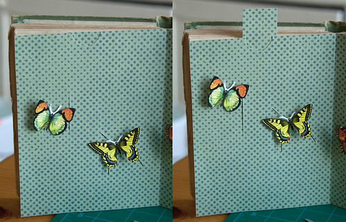 Altered Book- Experimenting with pull tabs