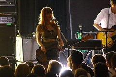 Jenny Lewis and fans - photo by Chad Riley