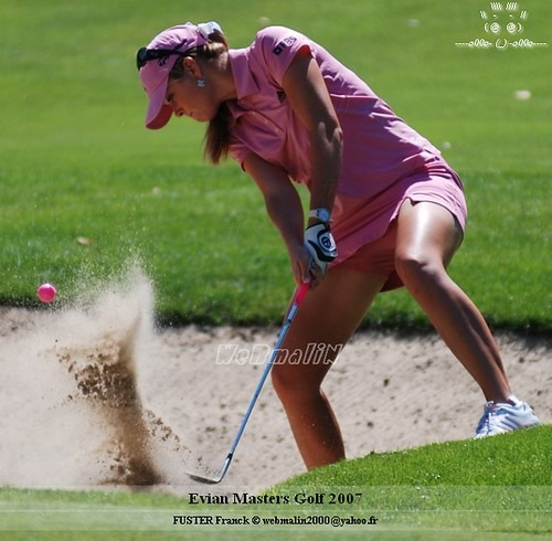 Paula Creamer chips one out of the bunker.