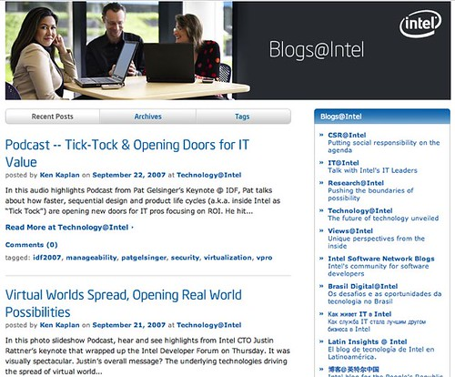 Blogs@Intel · Intel Corporation