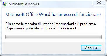 Microsoft Office Word ha smesso di funzionare