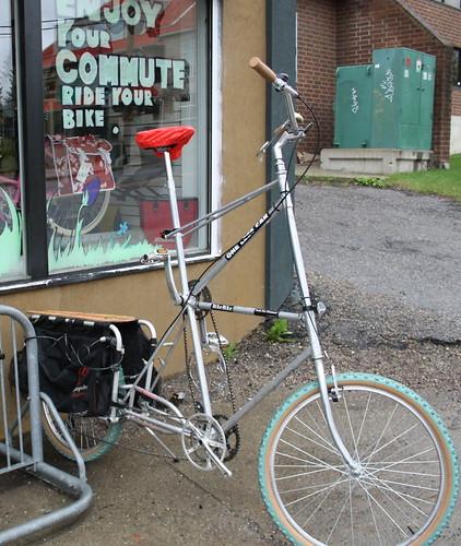 tallbike with Xtracycle Free Radical