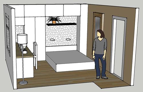 Designing the new bedroom/sewing space