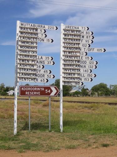 crazy signpost